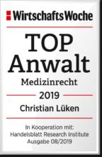 Top-Anwalt Medizinrecht Siegel 2019