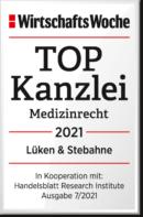 Top-Kanzlei Medizinrecht Siegel 2020